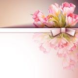 Весна цветет карточка шаблона приглашения Стоковое Фото