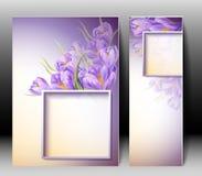 Весна цветет карточка шаблона приглашения Стоковое Изображение RF