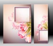 Весна цветет карточка шаблона приглашения Стоковые Фотографии RF
