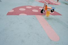 Весна цикла парка детей Стоковые Фото