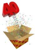 весна 40 подарков на день рождения иллюстрация штока