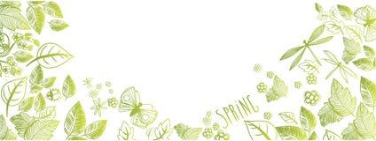 Весна doodles предпосылка иллюстрация вектора