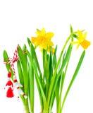 весна martisor праздника daffodils стоковые фотографии rf