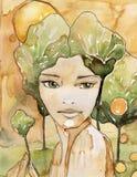 весна portreit иллюстрация штока