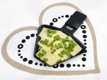 весна raclette лотка лука сыра Стоковое фото RF