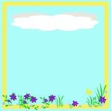 весна scrapbook рамки Стоковое Изображение RF