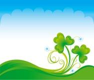 весна shamrock предпосылки Стоковые Фотографии RF