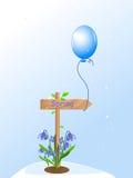 весна snowdrops указателя Иллюстрация вектора