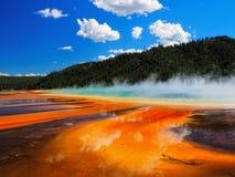весна yellowstone грандиозного национального парка призменная Стоковое фото RF