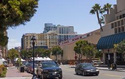 Весной день на улицах города Сан-Диего Стоковое фото RF