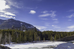 весны гостиницы banff Стоковое Изображение RF