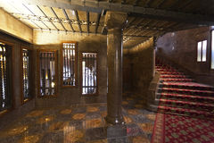 Вестибюль Палау Guell (Антонио Gaudi) в Барселоне, Испании Стоковые Изображения RF