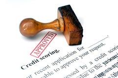 Вести счет кредита стоковая фотография rf