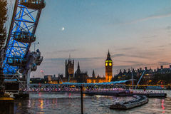 Вестминстер большое Бен Лондон Великобритания Стоковое Фото