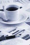 весточка кофейной чашки дела Стоковое Изображение