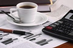 весточка кофейной чашки дела Стоковая Фотография RF