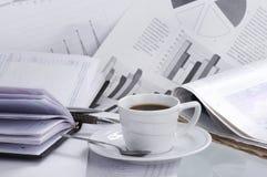 весточка кофейной чашки дела Стоковое Изображение RF