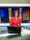 весточка представляя репортера tv Стоковая Фотография