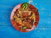 Вест-Инди одно блюдо бака стоковое фото rf