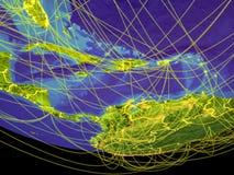 Вест-Инди от космоса на земле иллюстрация штока