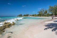 Вест-Индии Барбадос пляжа Аккра Стоковые Изображения