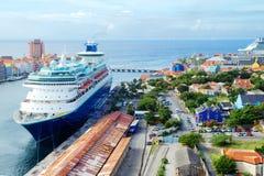Вест-Инди Остров Curacao порт Стоковые Изображения RF