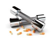 весы витаминов руки Стоковые Фотографии RF