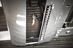 Весы в спортзале стоковая фотография rf