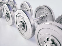 Весы гантели изолированные на белом переводе предпосылки 3D Стоковое фото RF