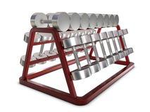 весы держателя серебряные Стоковое Фото