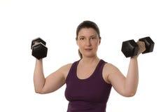Весы женщины поднимаясь Стоковое Изображение