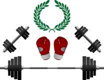 весы перчаток боксера иллюстрация вектора