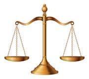 Весы правосудия Стоковое Фото