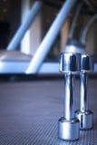 Весы спортзала гантели в оздоровительном клубе спорт Стоковая Фотография RF