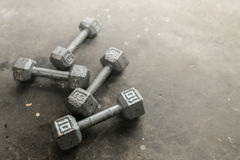 Весы стального серого цвета на поле спортзала Стоковые Фото
