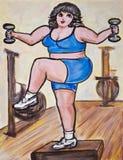 весы шага aerobics Стоковая Фотография RF