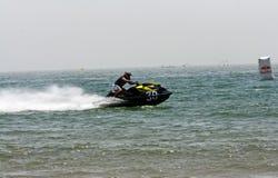 Весьма гонки двигател-лыжи Стоковые Фотографии RF