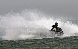 Весьма гонки двигател-лыжи Стоковое Изображение