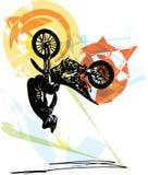 Весьма гонщик motocross мотоциклом Стоковые Фото