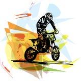 Весьма гонщик motocross мотоциклом Стоковые Изображения RF