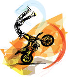 Весьма гонщик motocross мотоциклом Стоковое Изображение