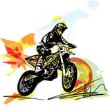 Весьма гонщик motocross мотоциклом Стоковые Фотографии RF