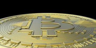 Весьма детальная и реалистическая высокая иллюстрация разрешения 3D Bitcoin Стоковая Фотография