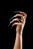 весьма длинные ногти Стоковое Изображение