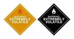 весьма испаряющее предупреждение Стоковые Изображения RF