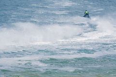 Весьма конкурент спортсмена на шлюпке shi двигателя Стоковые Фотографии RF
