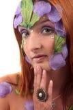 Весьма кольцо года сбора винограда девушки состава Стоковое фото RF
