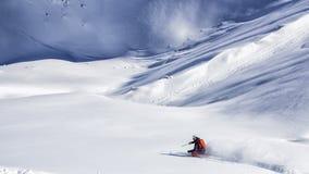 Весьма лыжник freeride Стоковая Фотография