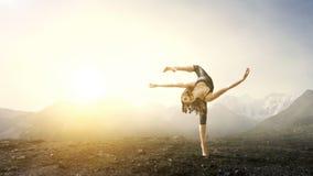 Весьма практика йоги Мультимедиа стоковая фотография rf