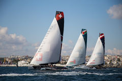 весьма серия sailing Стоковые Изображения